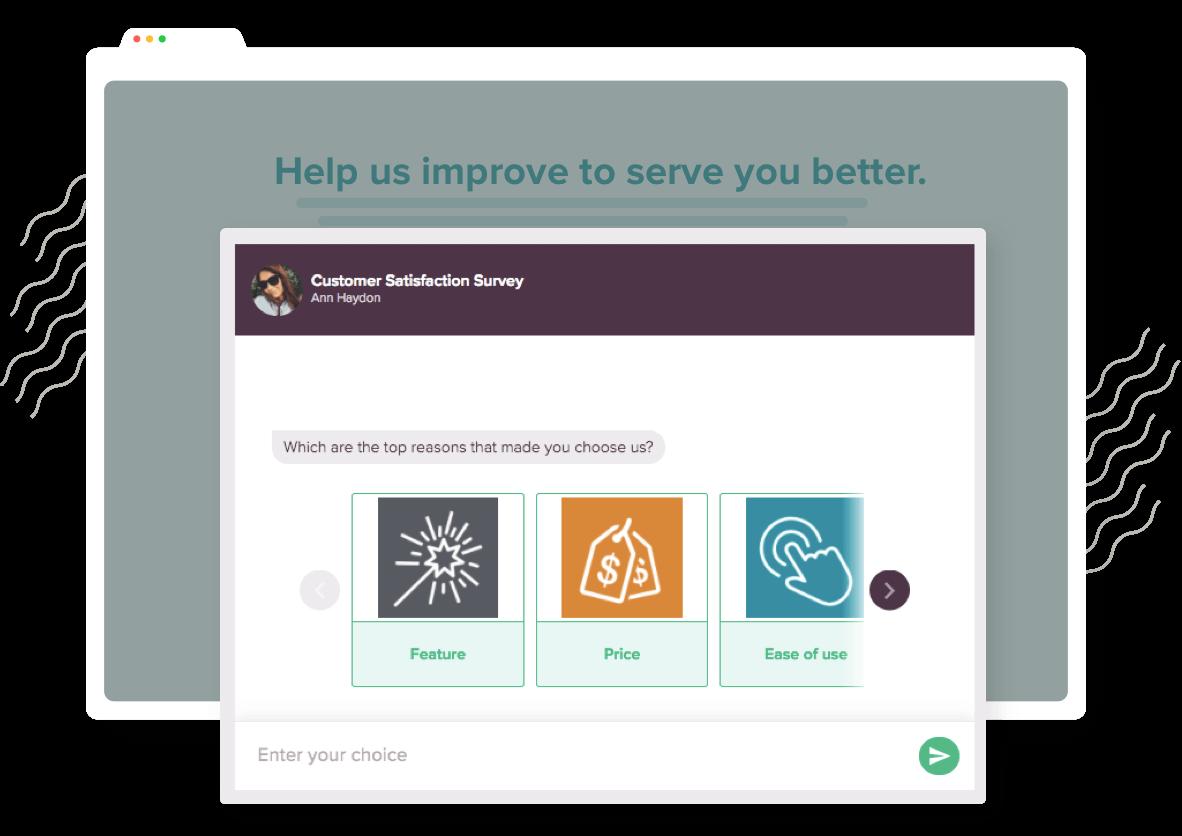create chatbot- inline embed surveys SurveySparrow