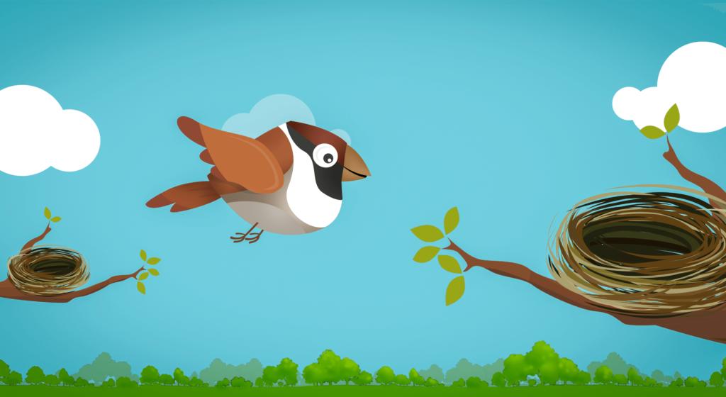 Sparrow Found A Bigger, Better Nest!