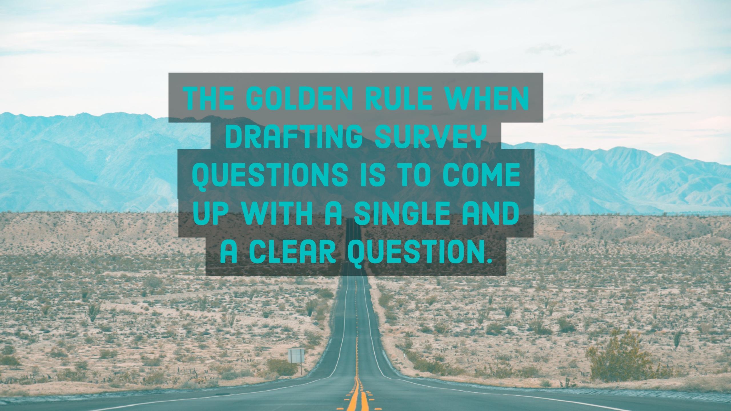 online survey golden rule