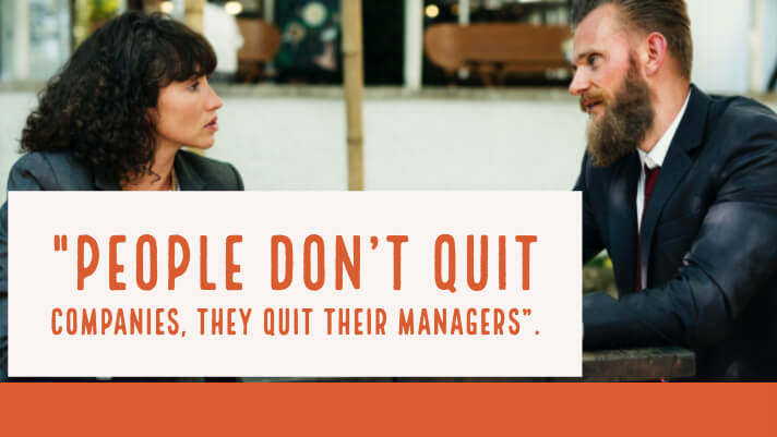 people quit their bosses, not jobs