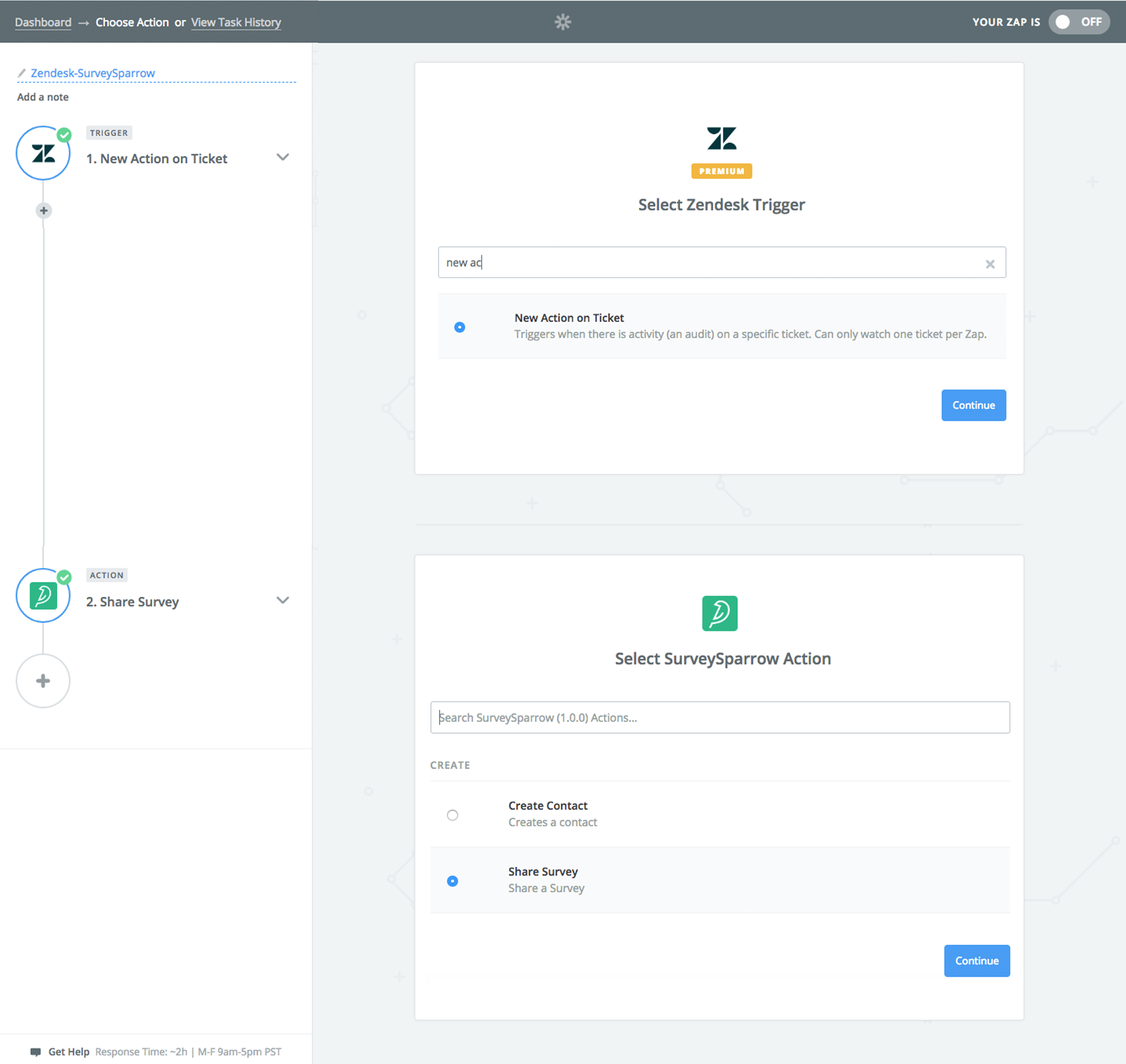 Engage surveys into your workflow and sync up with other apps. Try SurveySparrow & Zapier integration, today!