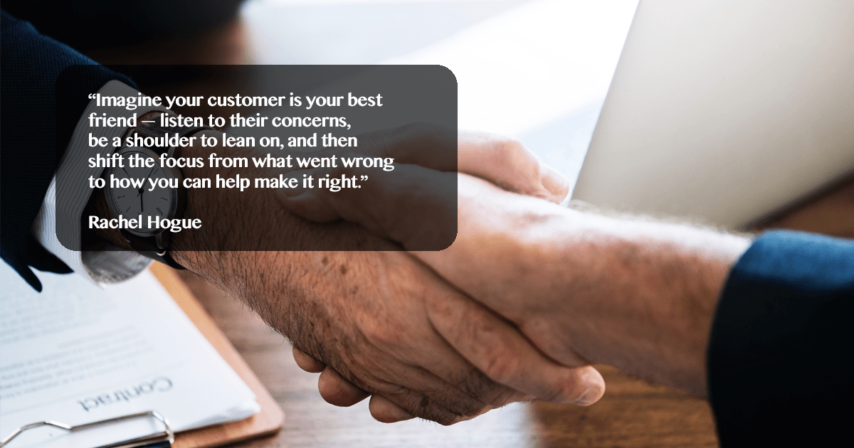 treat customer like you treat friends- quote