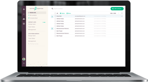 Google Forms alternative SurveySparrow comes with audience management feature to segment audience into various groups.