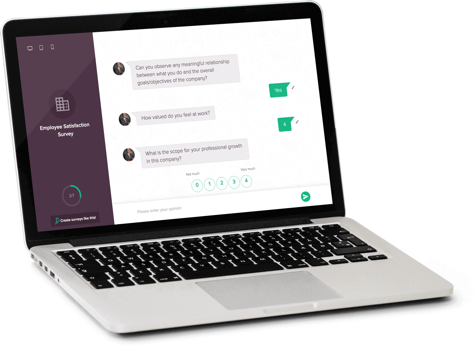 Looking for a Google Forms Alternative that simply gives you best-in-class features? Checkout SurveySparrow Vs. Google Forms. Enough and more reasons for SurveySparrow to be the best Google Forms Alternative!