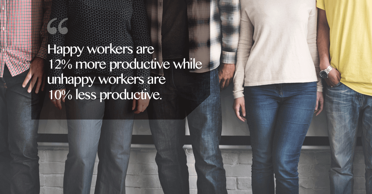 happy employees stay longer with the company