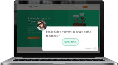 Embed surveys in your website that auto-triggers and get feedback with SurveySparrow, the best SurveyMonkey alternative.