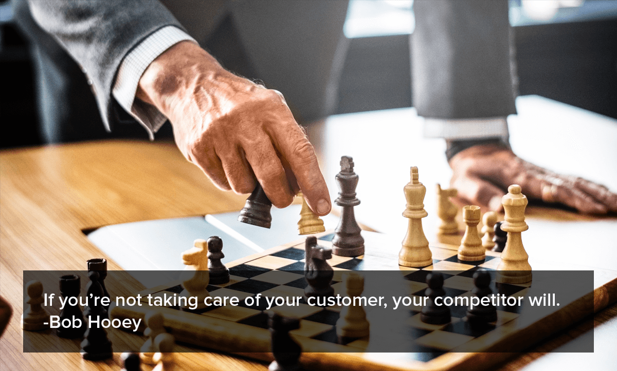 "Customer Churn rate- ""If you're not taking care of your customer, your competitor will."""