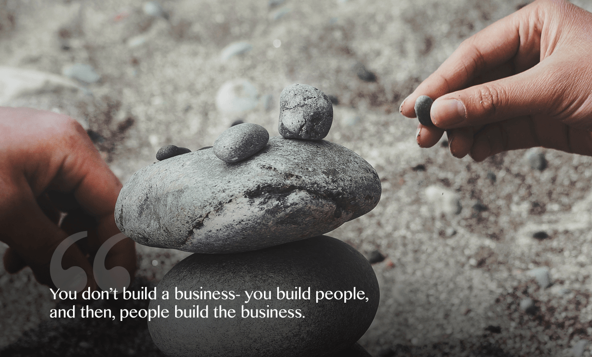employee retention strategies- people build the business- quote