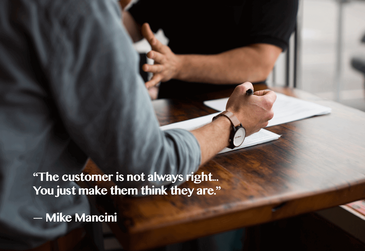 customer is always right- quote