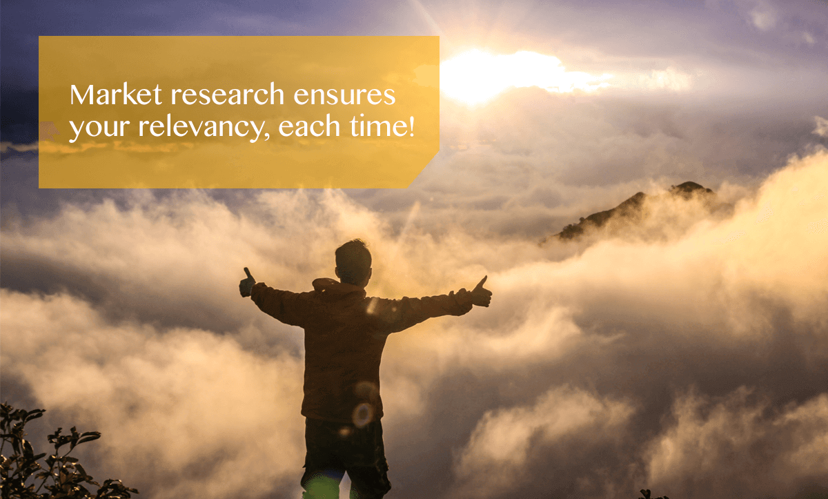 market research ensures your relevancy