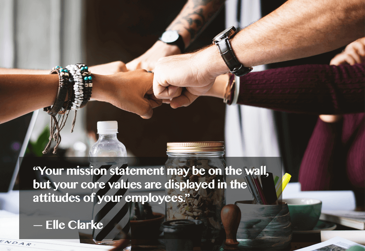 One of the key Customer Retention Metrics is how happy your customers are with you. Elle Clarke believes that pleasing customers can happen only if your employees are happy, for they reflect your core values.