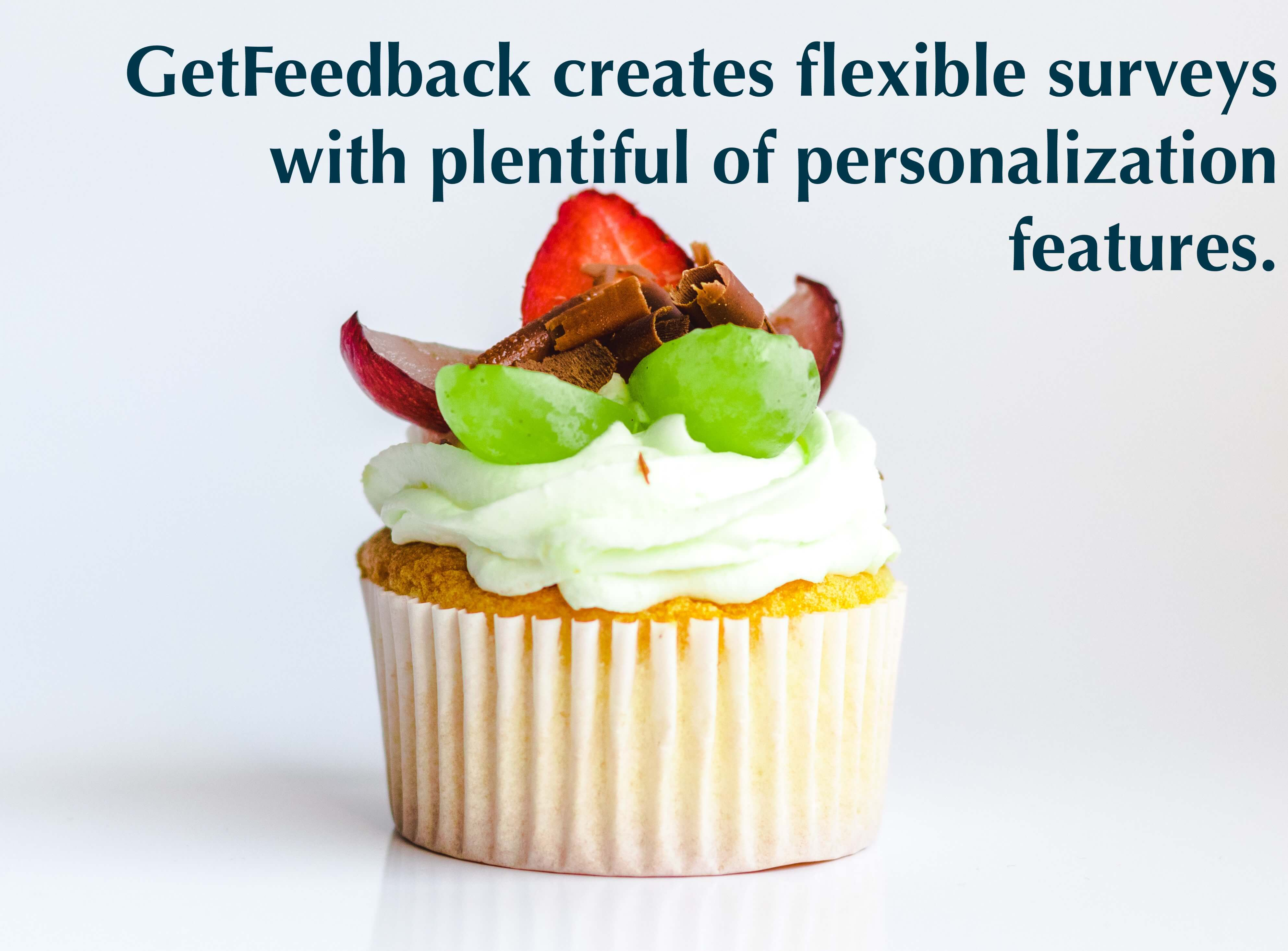 GetFeedback creates flexible surveys with plentiful of personalization features.