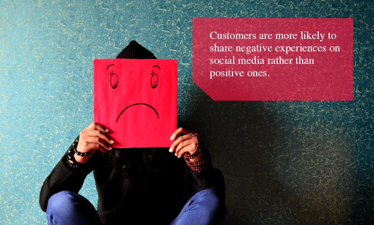 Negative Feedback Loop -Customers are more likely to share negative experiences on social media rather than positive ones.
