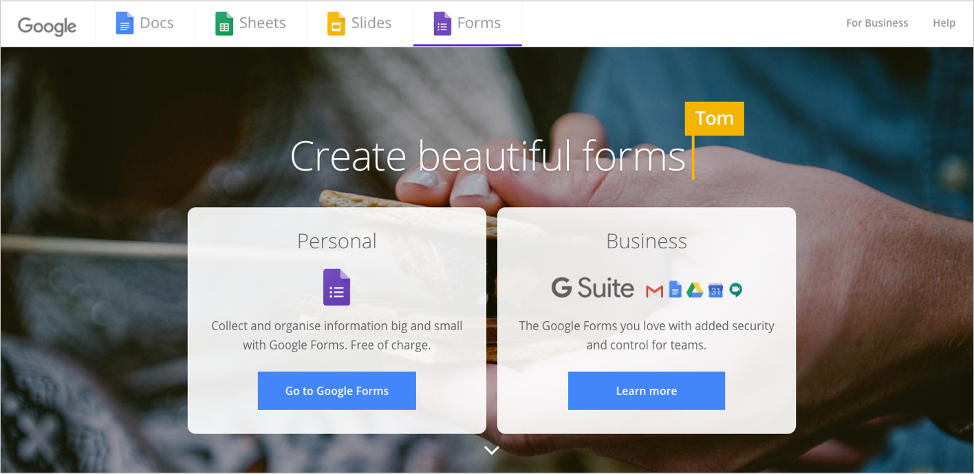 Google Forms lets you put together surveys quickly and easily with a convenient interface.