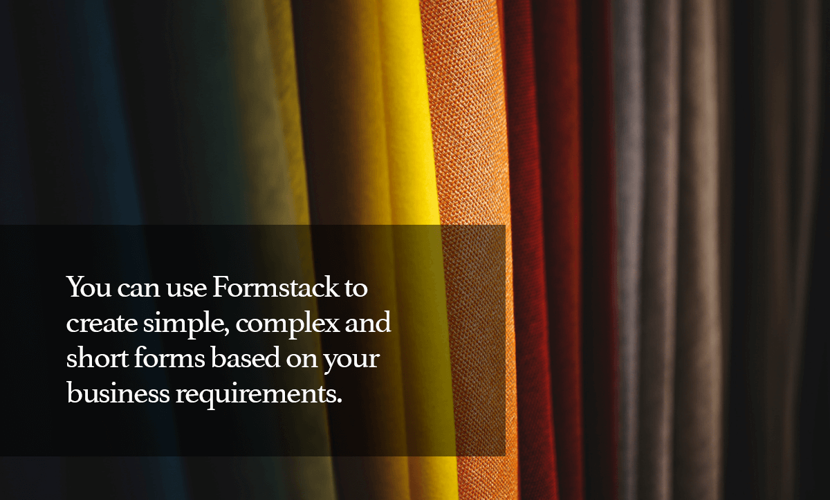 TypeForm Alternatives- 7. You can use Formstack to create simple, complex and short forms based on your business requirements.