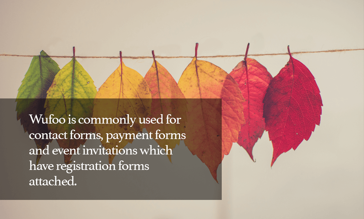 TypeForm Alternatives- 9. Wufoo is commonly used for contact forms, payment forms and event invitations which has registration forms attached.