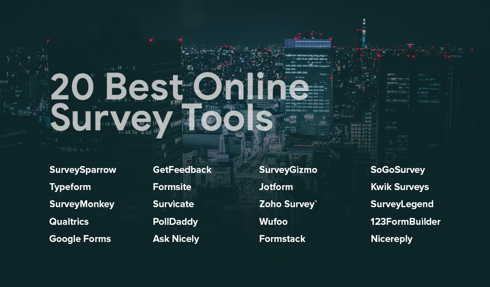 list of best online survey tools and survey apps
