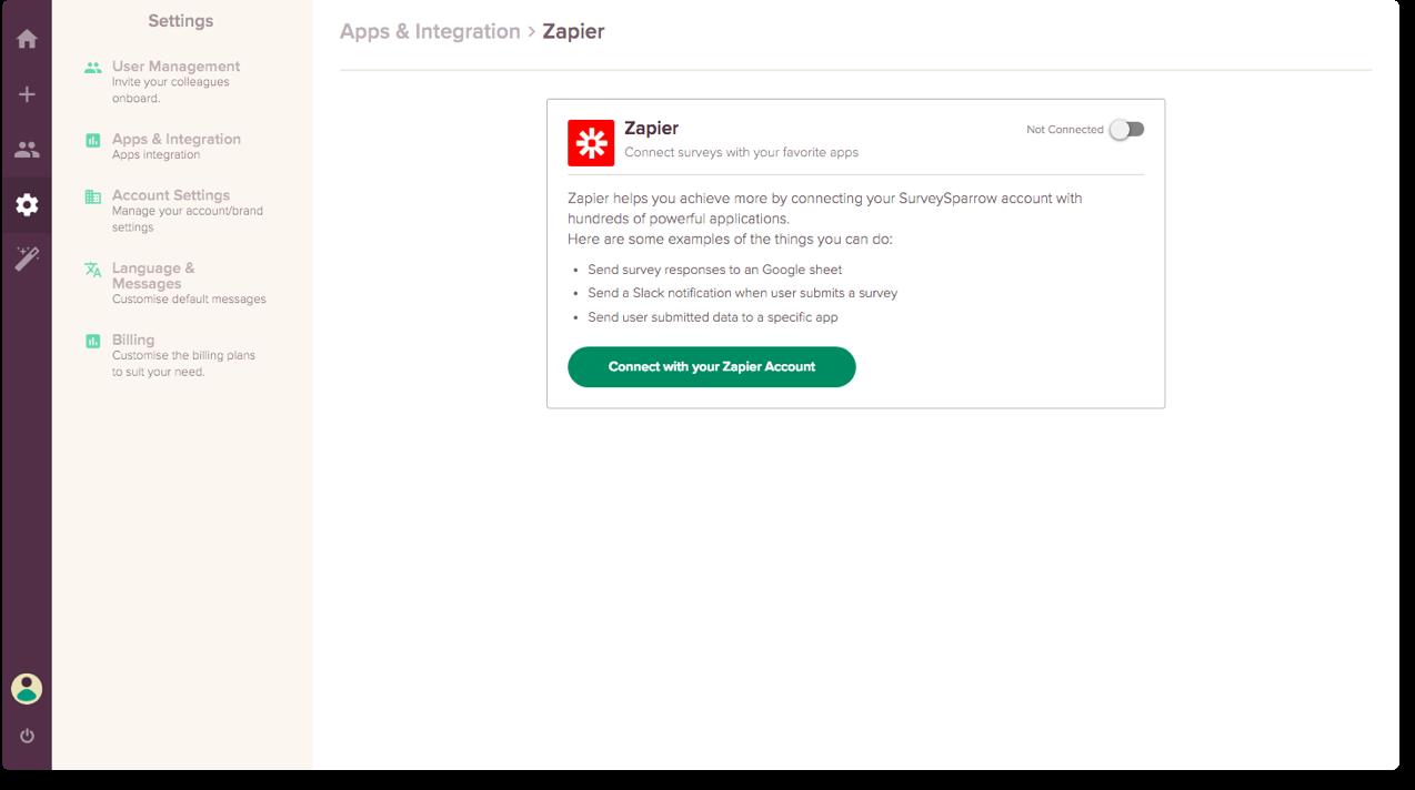 Best Survey Maker Feature #2: App Integration.