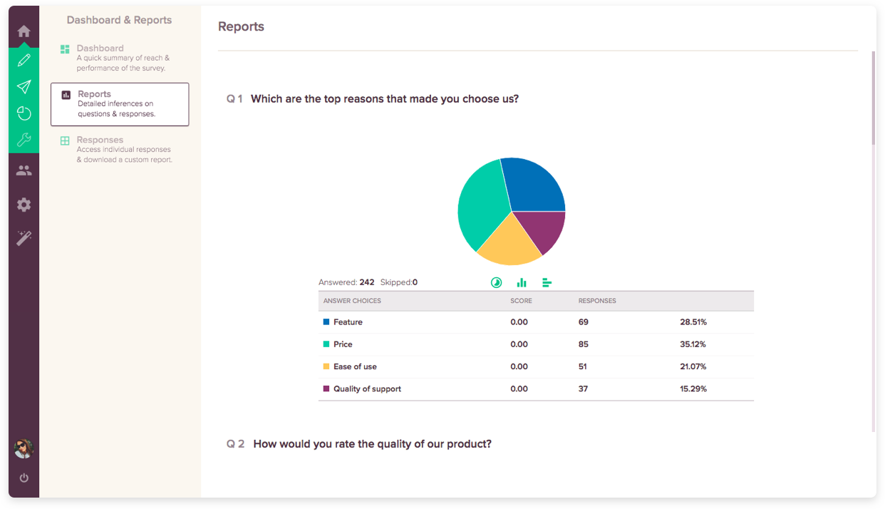 Free Online Survey Tool Feature #3: Response Management