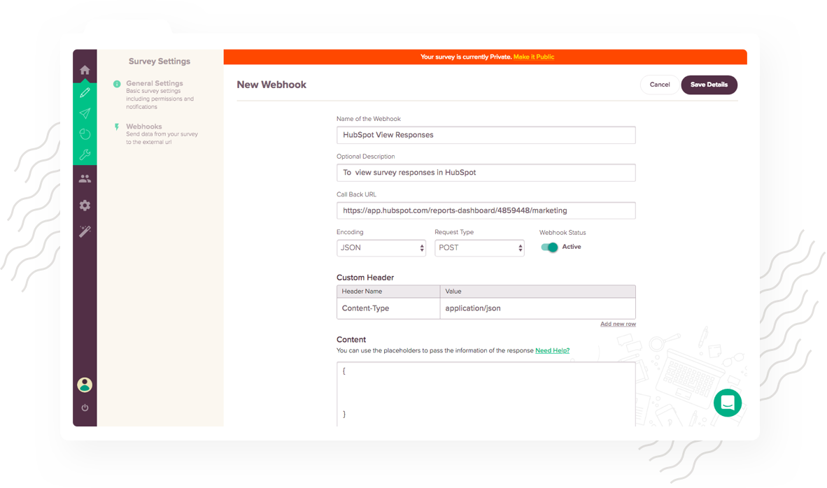 View your survey responses right within Hubspot contact database using HubSpot Integration with SurveySparrow.