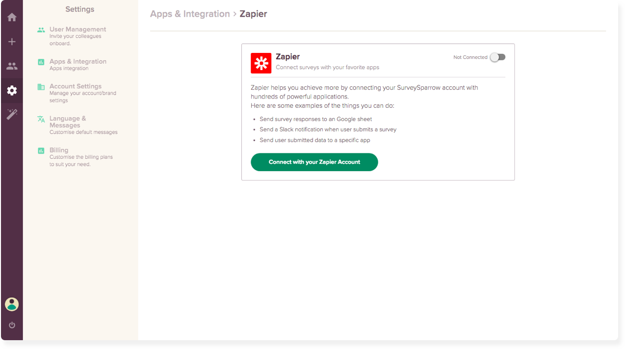 Survey Maker Feature #2: App Integrations.