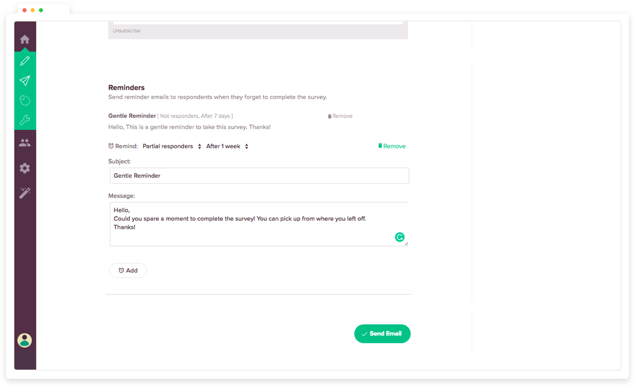 Spike response rates of your 360 feedback surveys with reminder emails.