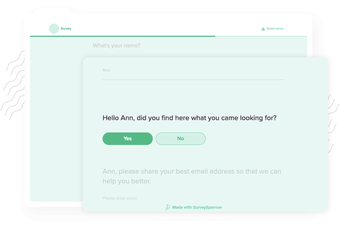 Build personalized forms using form builder tool for high response rates and accurate feedback.