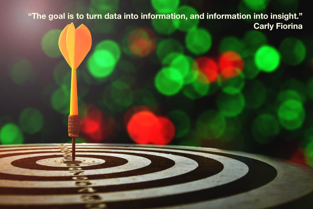 """The goal is to turn data into information, and information into insight."""