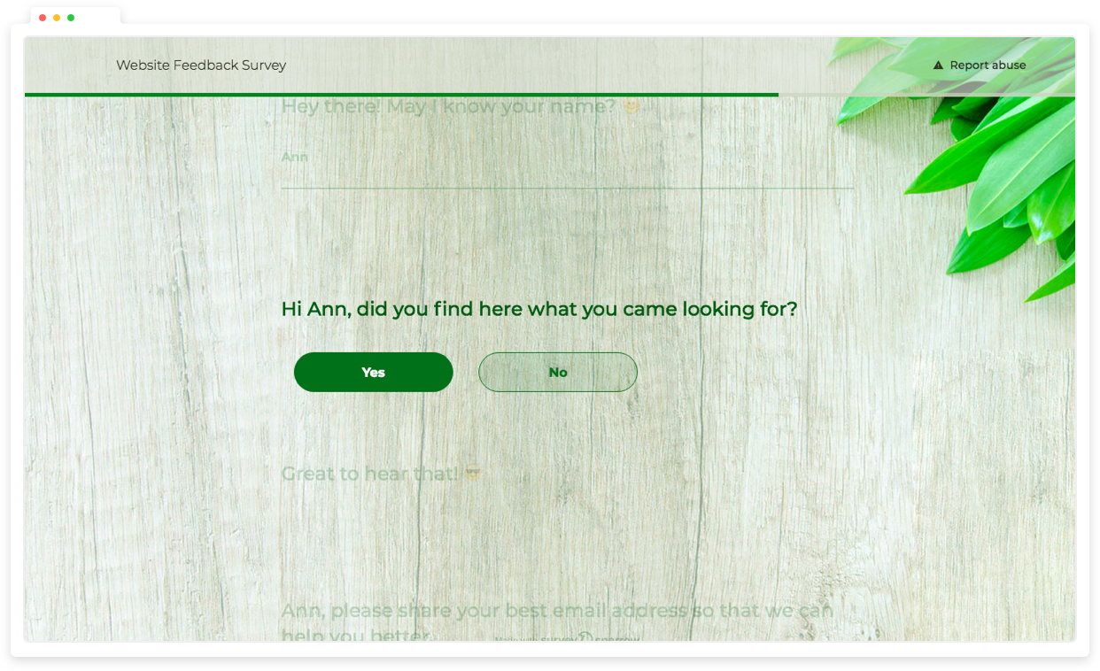 Get critical customer satisfaction data with interactive surveys.
