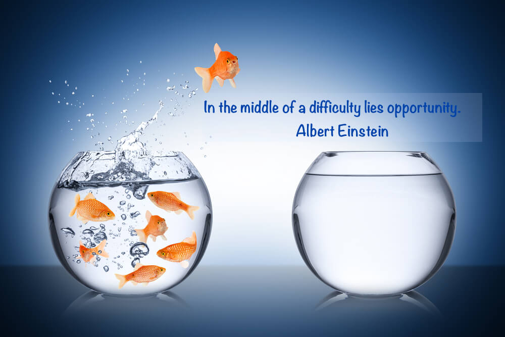 In the middle of a difficulty lies opportunity.