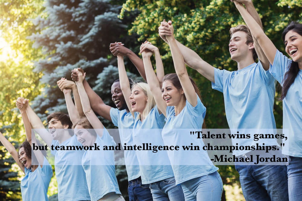 Talent wins games, but teamwork and intelligence win championships.