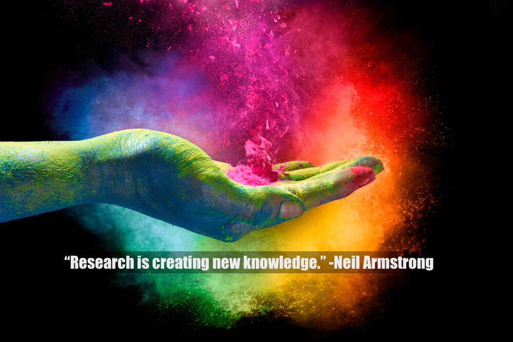 """Research is creating new knowledge."