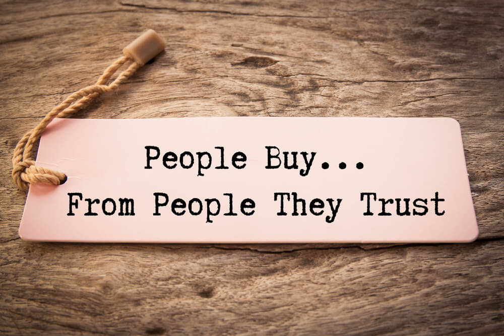 people buy only from brands they trust