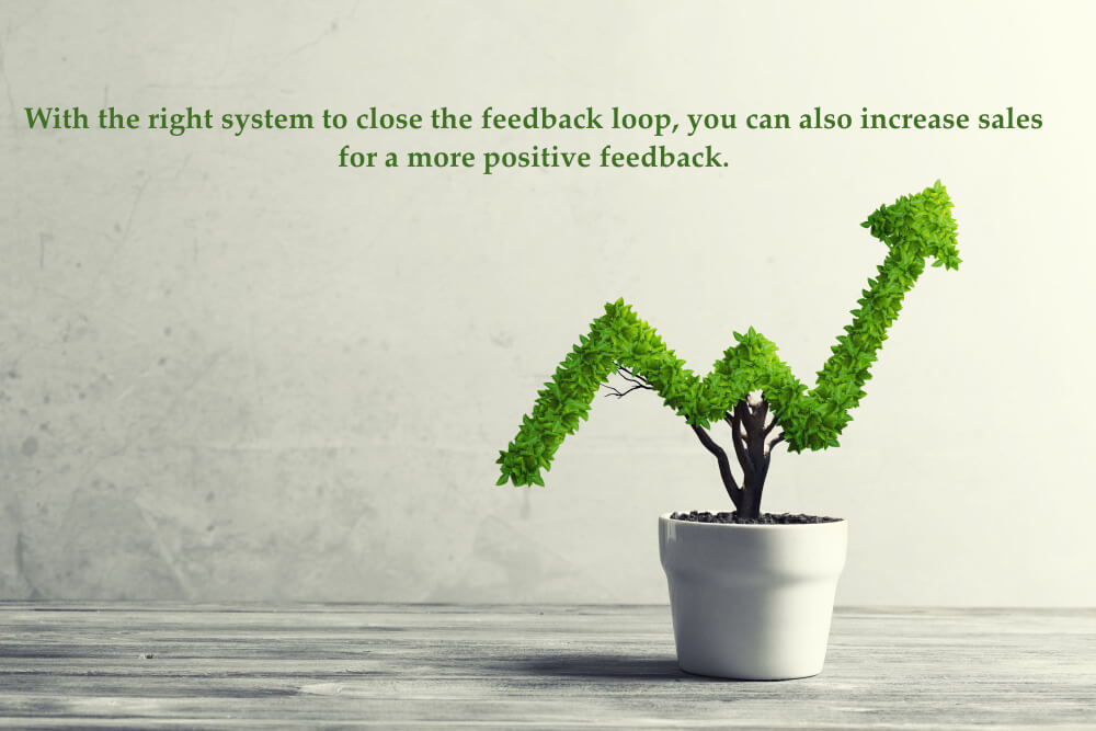 With the right system to close the feedback loop, you can also increase sales for a more positive feedback.