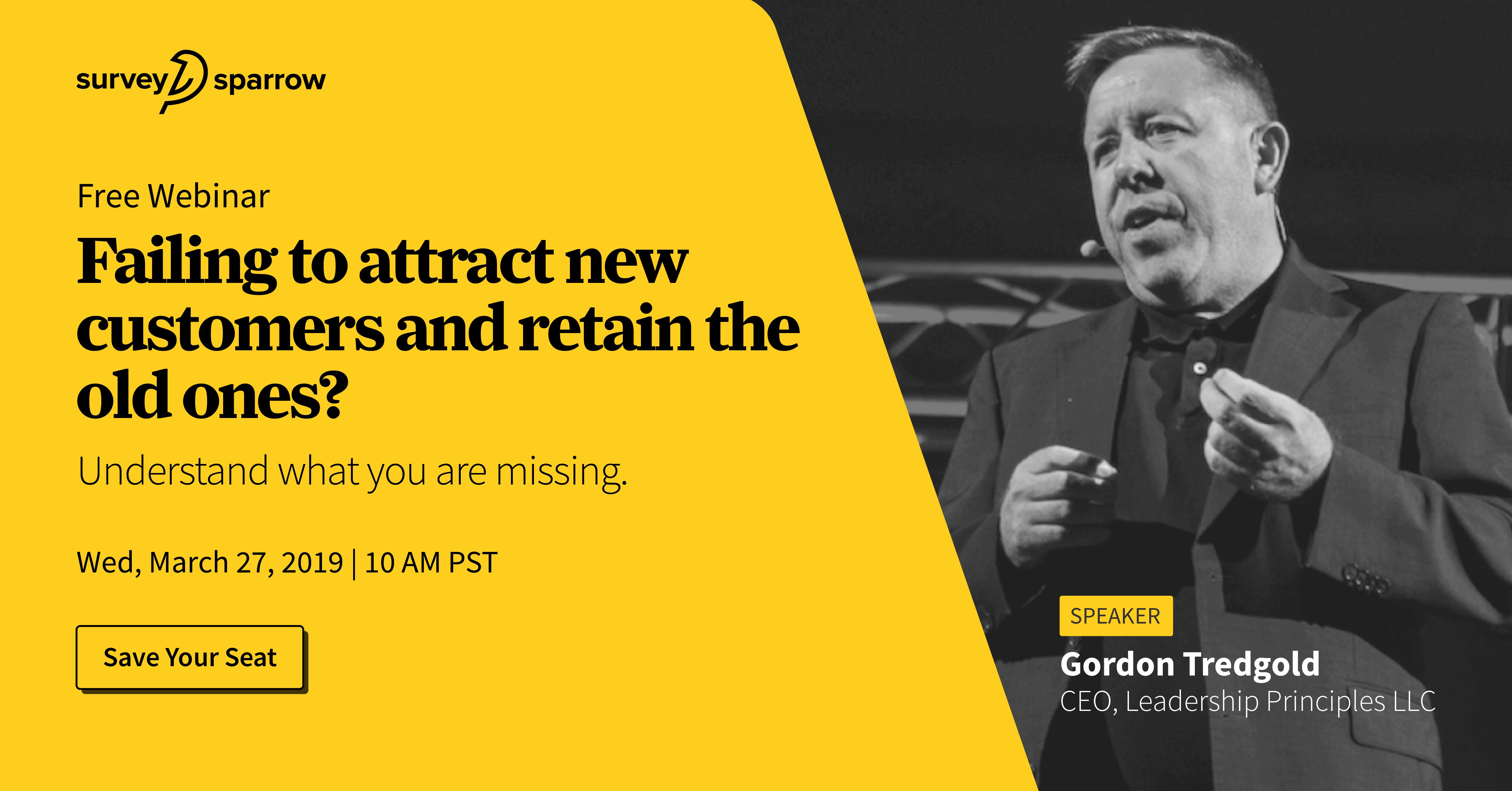 Failing to attract & retain customers? | Gordon Tredgold