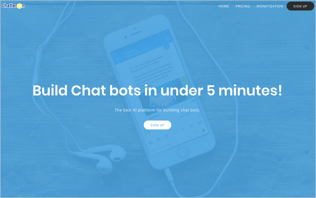 Chatteron is yet another bot development platform that provides you the required tools to create Facebook Messenger chatbots without any need for coding.