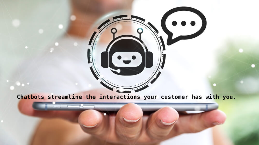 A chatbot dwells in the chat platforms and is designed to carry out conversations.