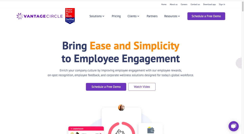Vanatage circle - employee engagement software