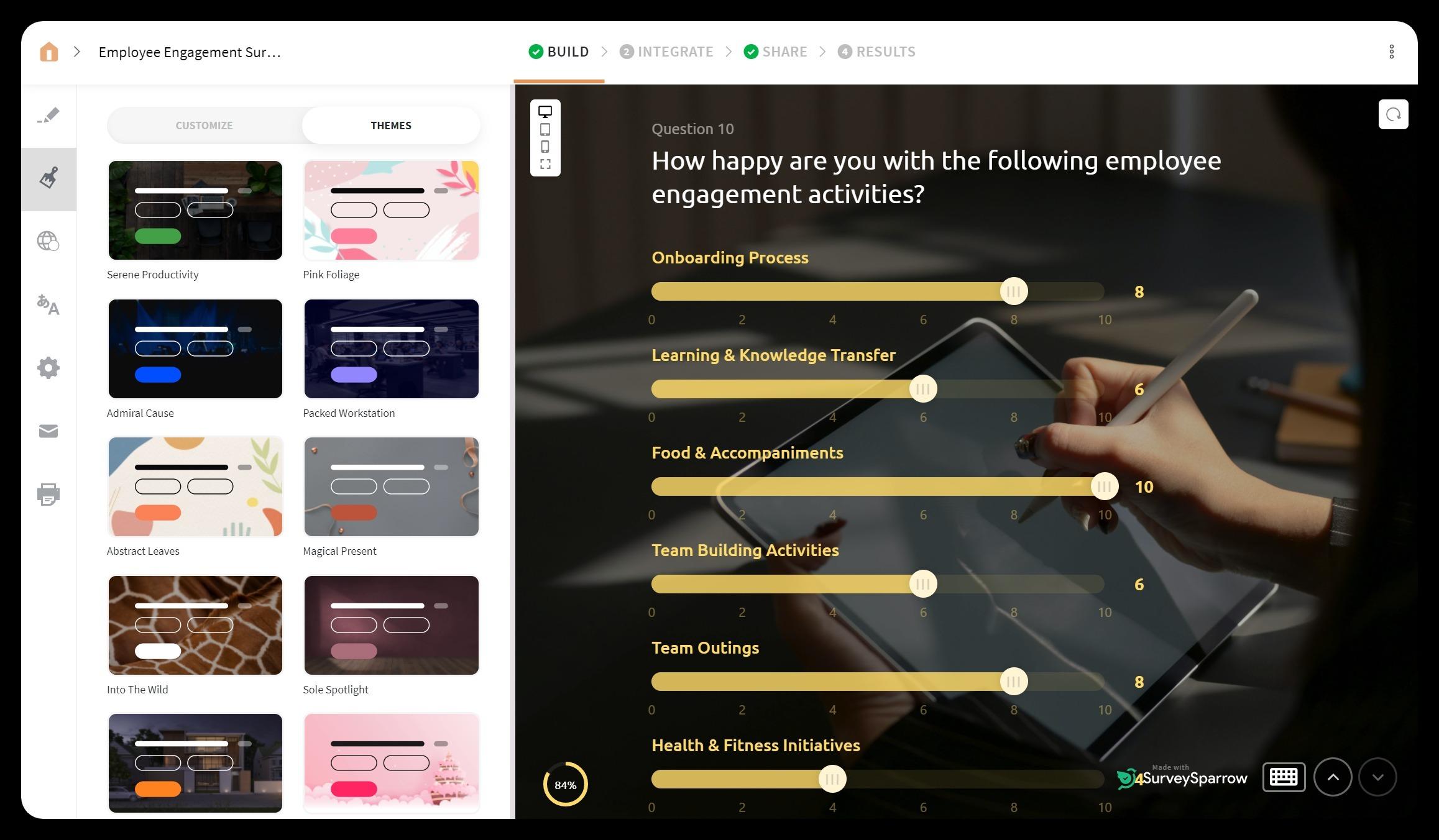 best employee engagement-software surveysparrow