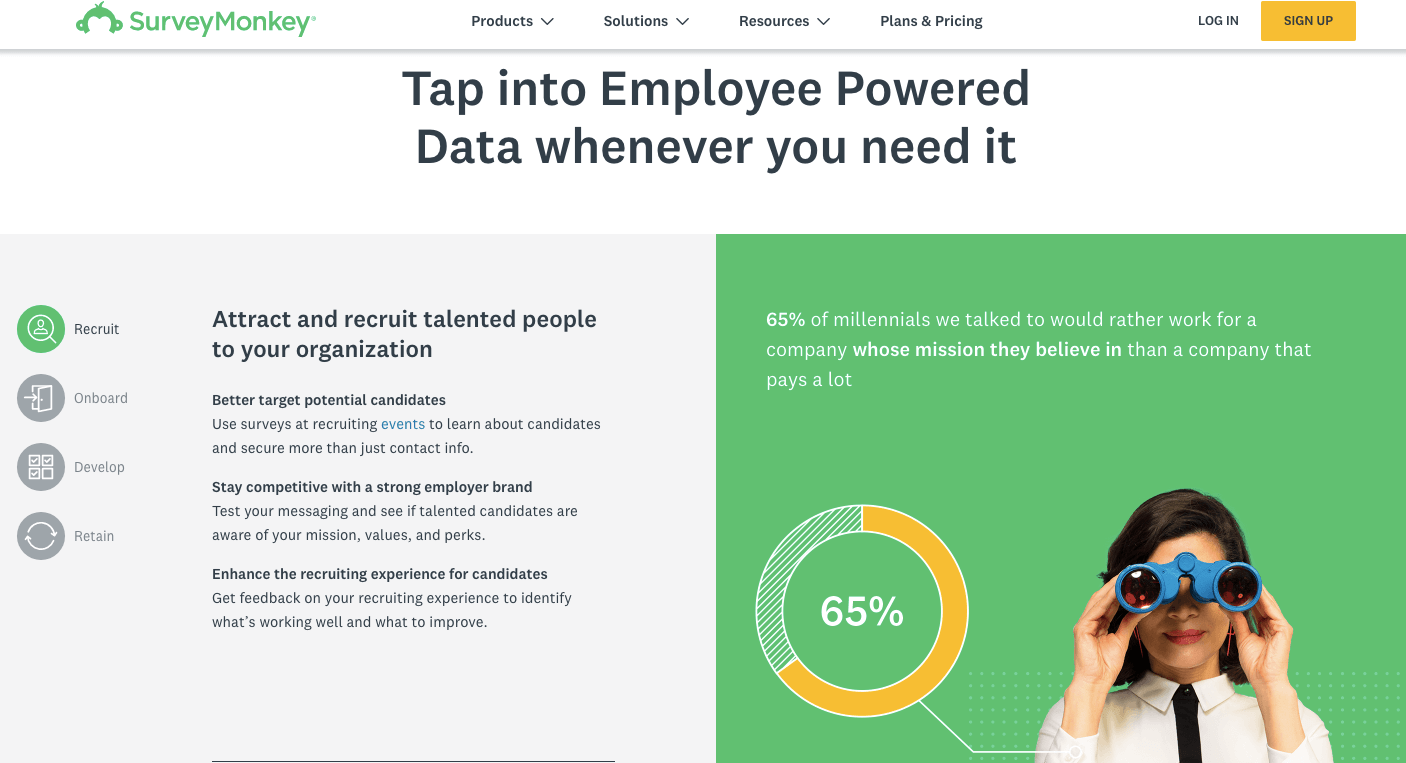 Employee Engagement Software#2: SurveyMonkey