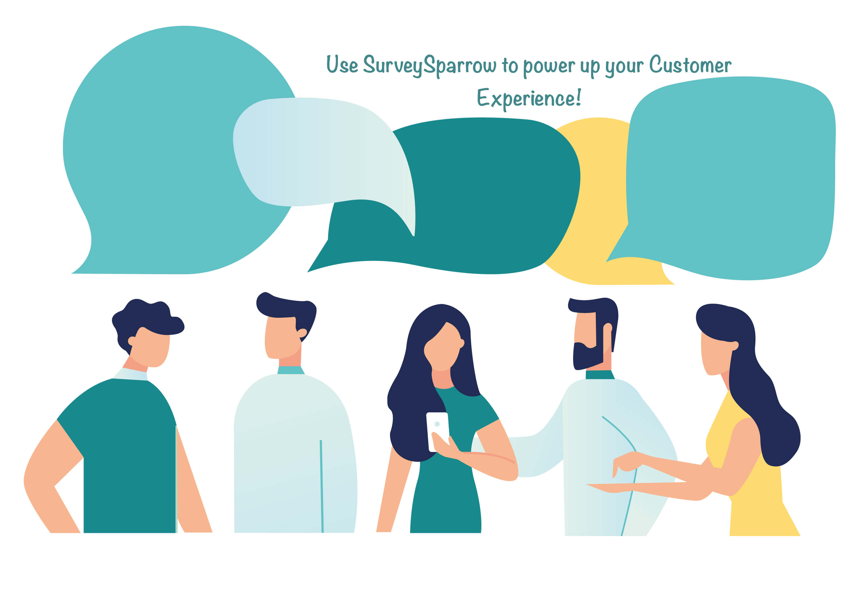 With SurveySparrow interactive user interface, companies can achieve 40% more responses than normal feedback collection methodologies.