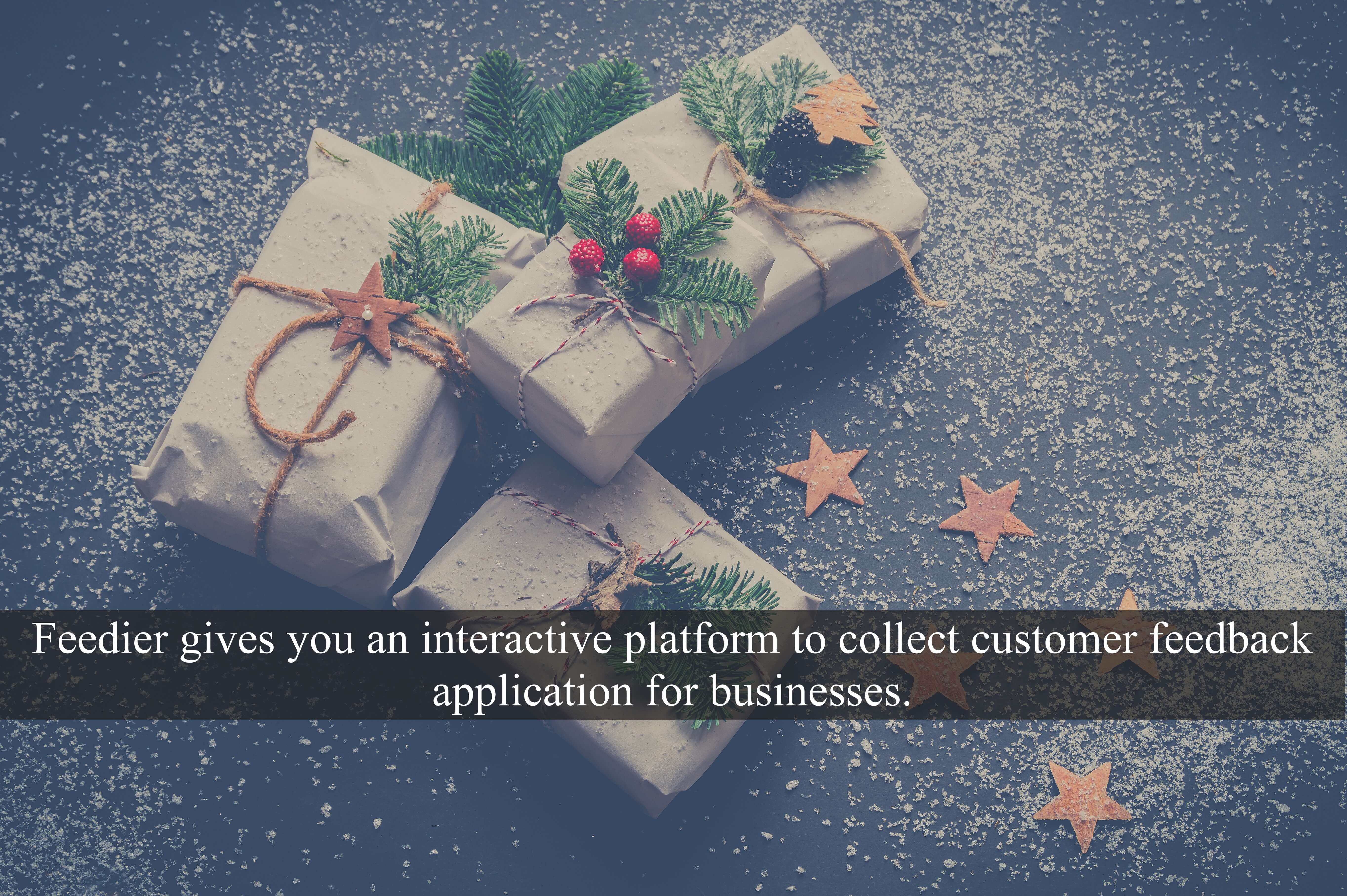 Feedier gives you an interactive platform to collect customer feedback application for businesses.
