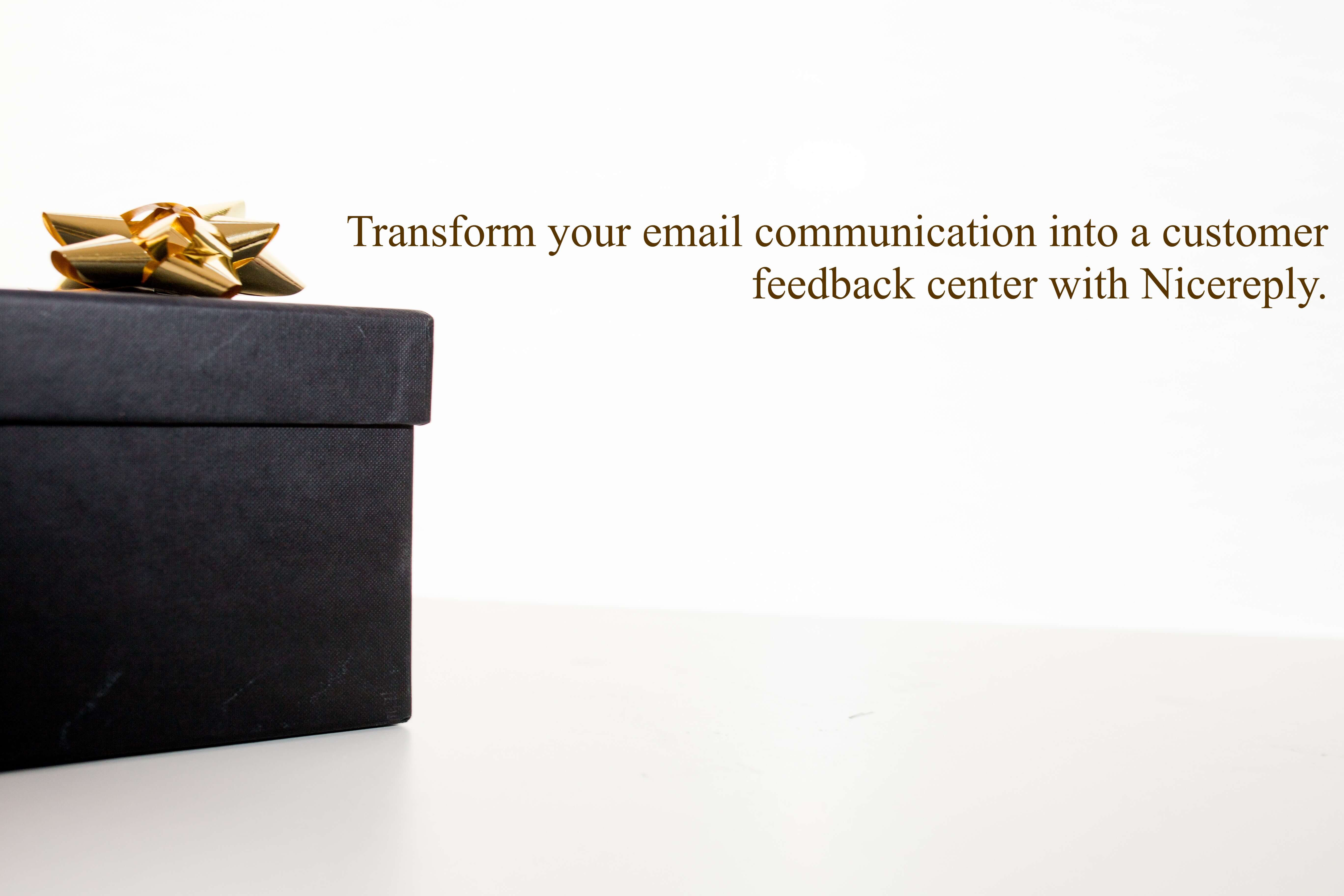 Transform your email communication into a customer feedback center with Nicereply.
