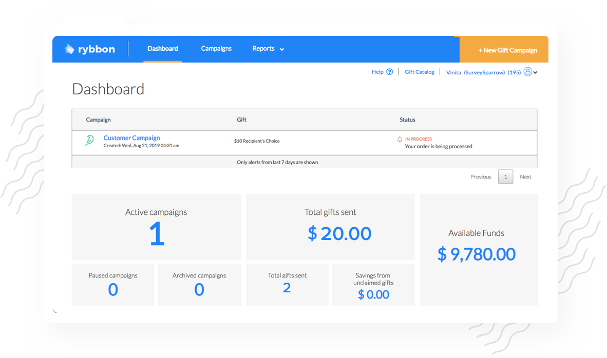 Automate your rewards management and track the rewards given.