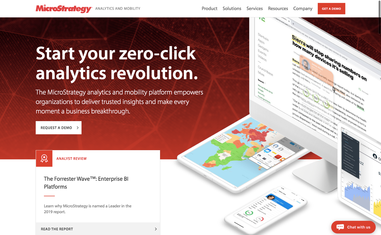 The up-to-speed dashboard makes Microstrategy one of the top picks for a business intelligence tool.