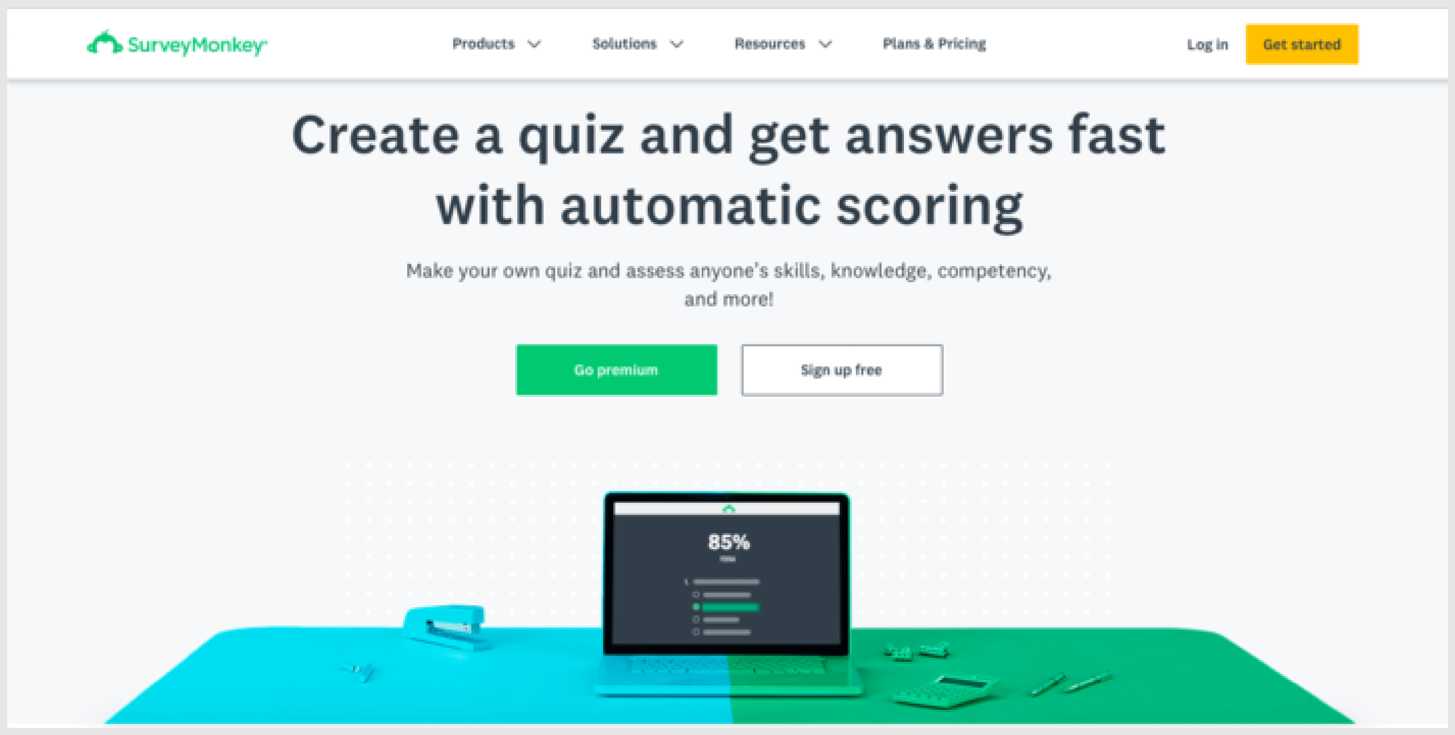 SurveyMonkey helps craft polls and questionnaires in a few minutes.