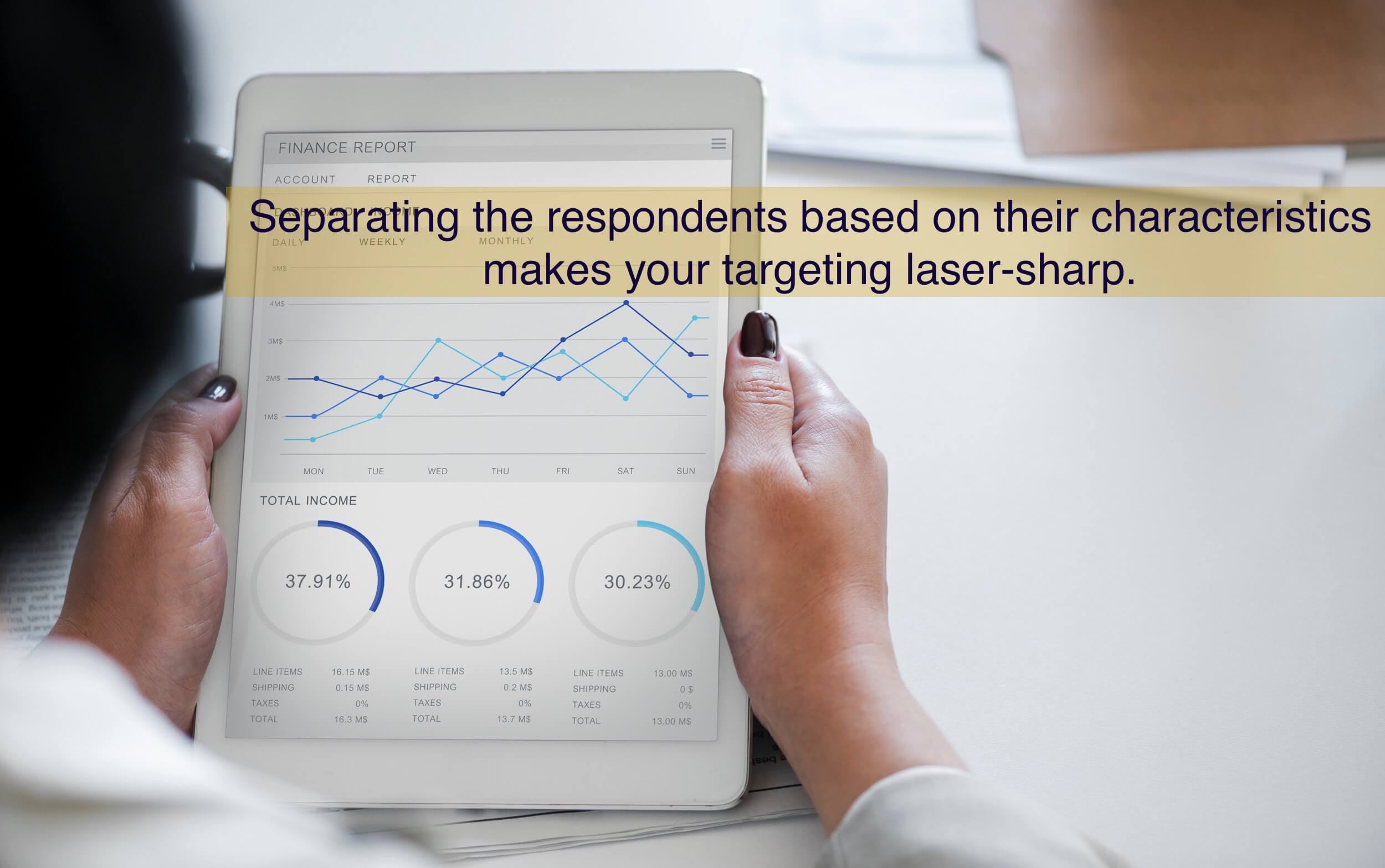 Separating the respondents based on their characteristics makes your targeting laser-sharp.