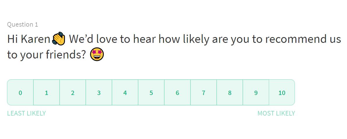Personalized NPS email surveys