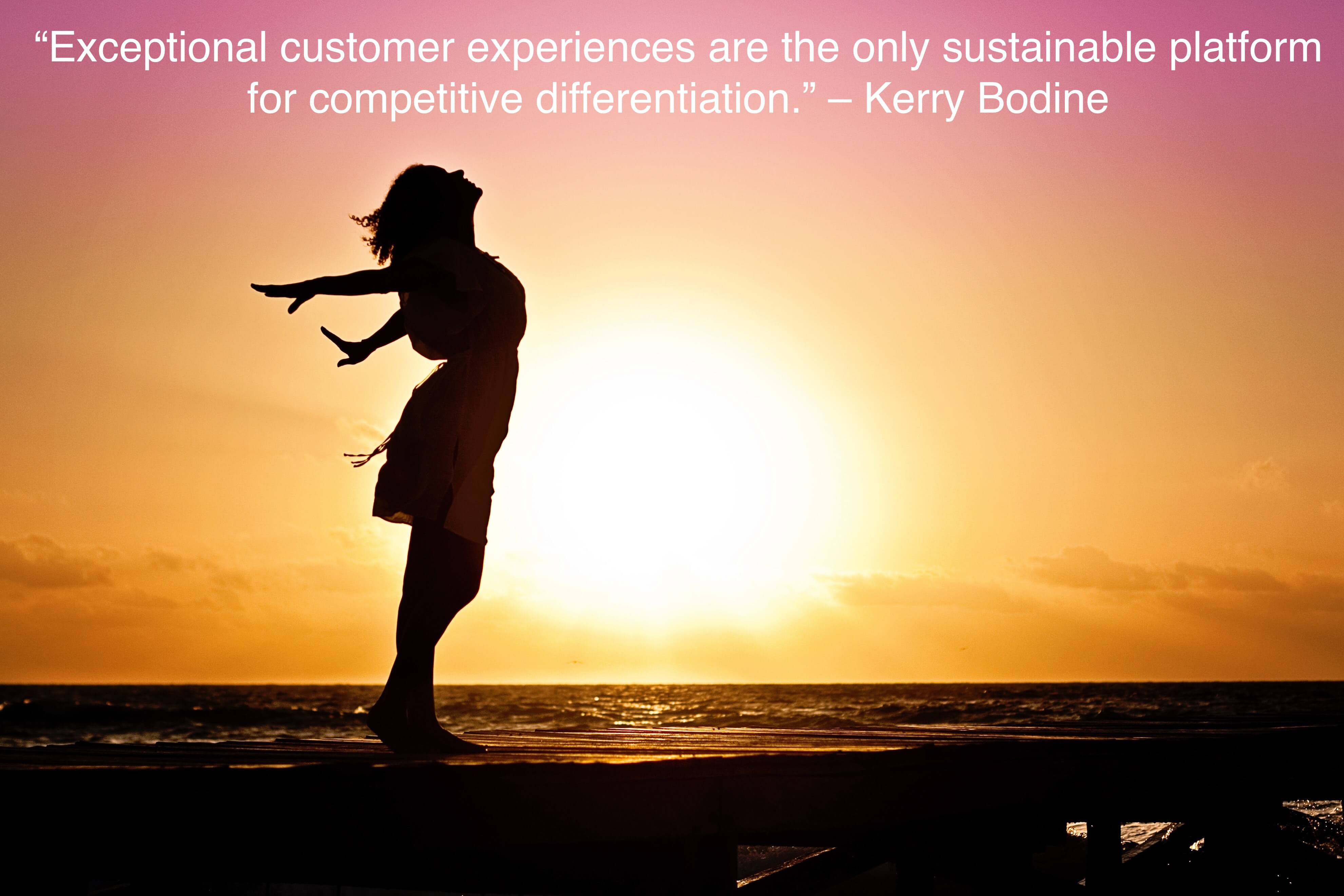 """Exceptional customer experiences are the only sustainable platform for competitive differentiation.""- quote by Kerry Bodine on customer experience"