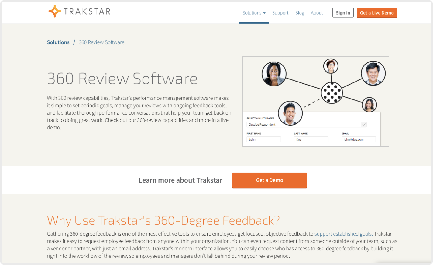 Trakstar is clearly an accomplished 360 feedback software but it has a steep learning curve.